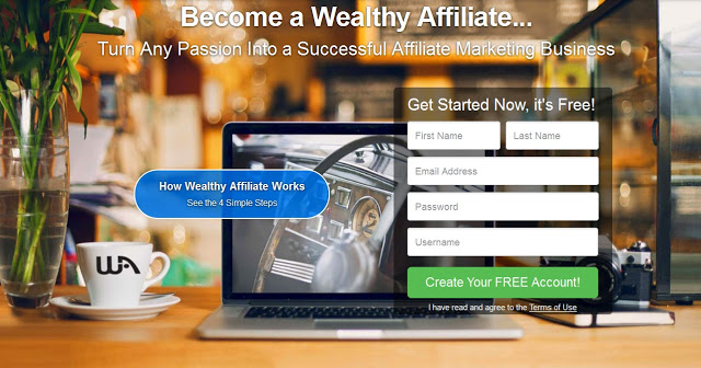 wealthy affiliate get started with affiliate marketing
